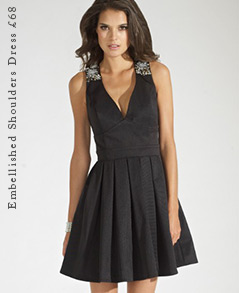 Embellished Shoulders Dress
