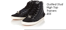 Quilted Stud High Top Trainers