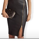 Wetlook High Waist Pencil Skirt