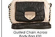 Quilted Chain Across Body Bag