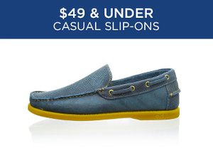 $49 & Under Casual Slip-Ons