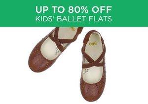 Up to 80% Off: Kids' Ballet Flats