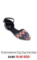 SIDEWALK Qai Embroidered Zig-Zag Sandals