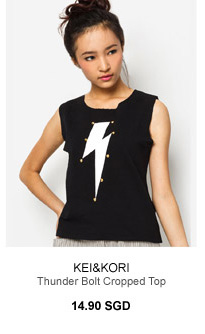 KEI&KORI Thunder Bolt Cropped Top