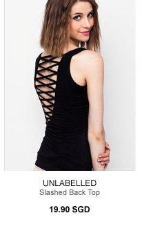UNLABELLED Slashed Back Top