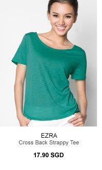 EZRA Cross Back Strappy Tee