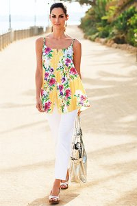 Together Yellow Floral Print Top