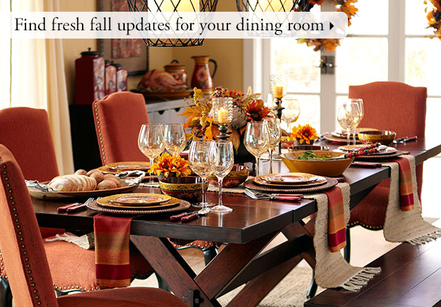Find fresh fall updates for your dining room