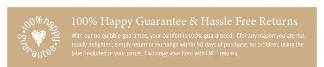100% Happy Guarantee & Hassle Free Returns