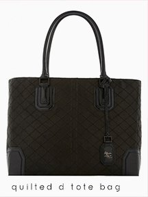 Quilted D Tote Bag