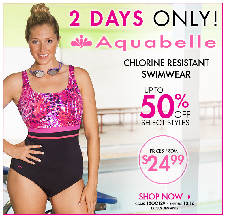 Aquabelle [Chlorine Resistant Swimwear - 2 Days Only! up to 50% OFF Select Styles. Code: 13OCT29 - shop now