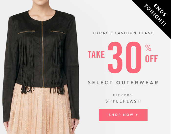 Take 30% Off Select Outerwear