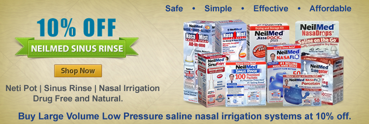 Buy Large Volume Low Pressure saline nasal irrigation systems at 10% off.