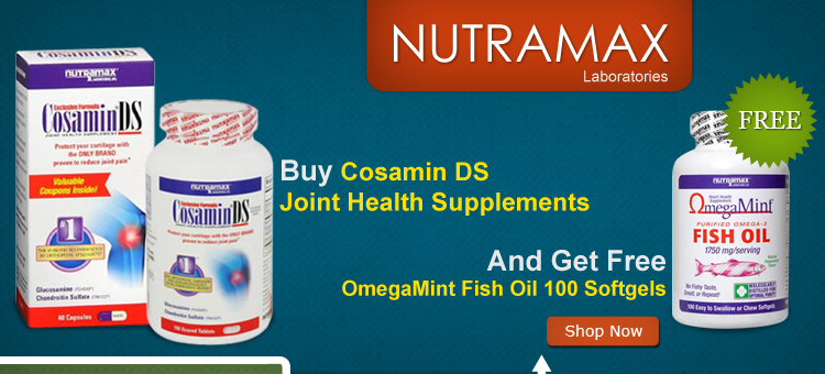 Buy Cosamin DS Joint Health Supplements And Get Free OmegaMint Fish Oil 100 Softgels