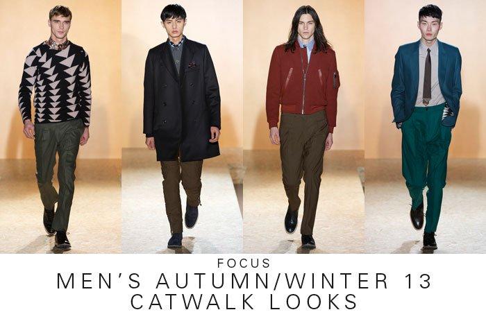FOCUS  MEN'S AUTUMN/WINTER 13 CATWALK LOOKS