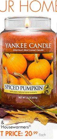 Apple Pumpkin, Spiced Pumpkin & Autumn Wreath Yankee Candle® Housewarmers® ORIGINAL PRICE: 27.99 EVENT PRICE: 20.99 Each