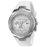 Armani Exchange AX5057 Women's Silver Dial White Rubber Strap Sport Watch