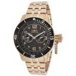Invicta 14889 Men's Specialty Black Carbon Fiber Dial Rose Gold Steel Dive Watch