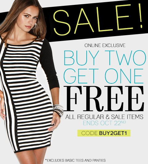The Buy 2, Get 1 Free Sale Is ONLINE NOW!
