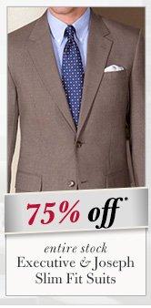 75% OFF* Executive & Joseph Slim Fit Suits