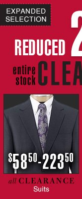 Reduced 25% - Clearance Suits