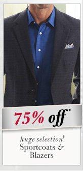 75% OFF* Sportcoats & Blazers