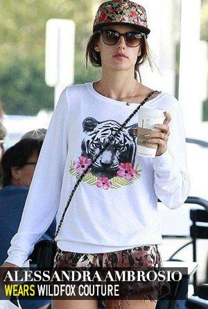 Alessandra Ambrosio in Wildfox Couture