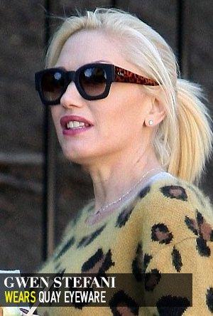 Gwen Stefani in Quay Eyeware