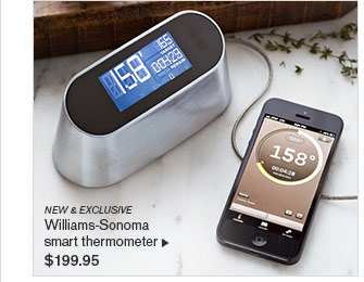 NEW & EXCLUSIVE  Williams-Sonoma smart thermometer $199.95