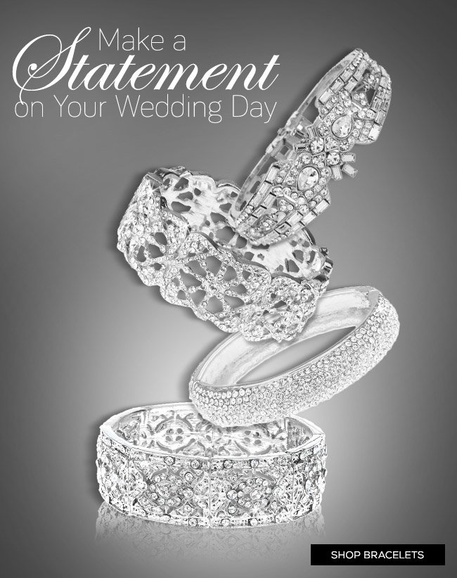 Make a Statement On Your Wedding Day