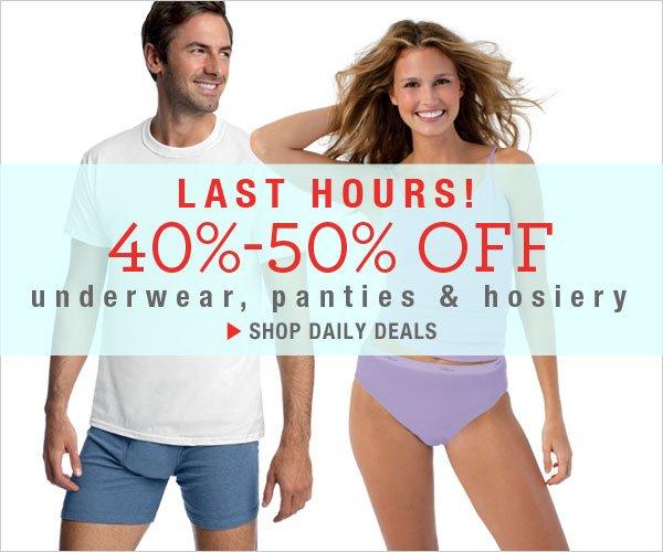 40-50% Off Underwear & Hosiery