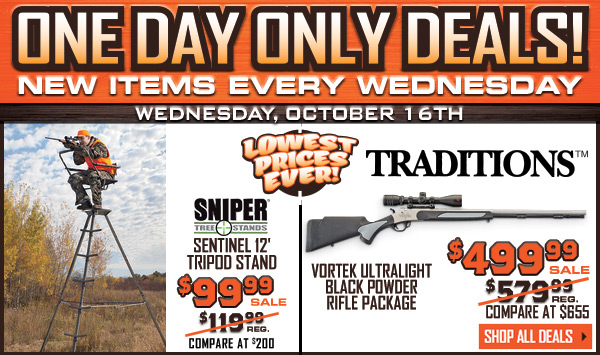 One Day Only Deals! New Items Every Wednesday.