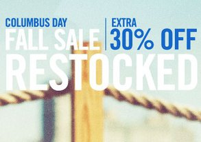 Shop Columbus Day Fall Sale
