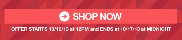Shop Now. One Day Only.