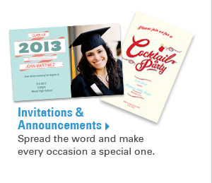 Invitations & Announcements - Spread the word and make every occasion a special one.