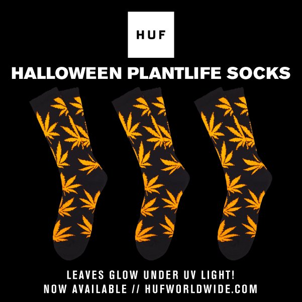 HUF HALLOWEEN PLANTLIFE SOCKS // NOW AVAILABLE