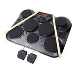 Adorama - Pyle PTED01 Electronic Table Top Drum Kit, 7 Drum Pads with Touch Sensitivity