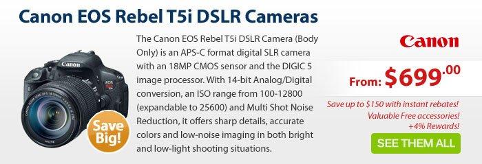 Adorama - Canon T5i DSLR Cameras