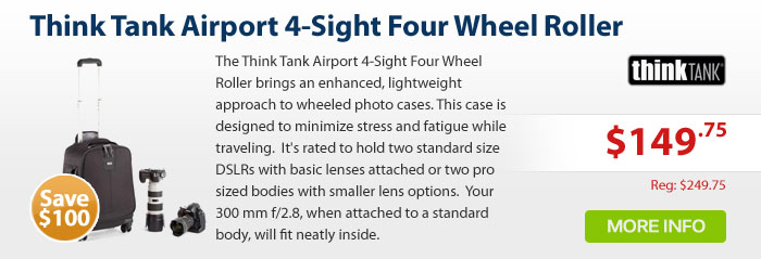 Adorama - Think Tank Airport 4-Sight Four Wheel Roller