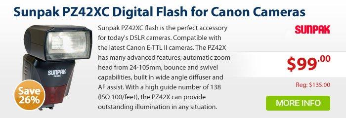 Adorama - Sunpak PZ42XC Digital Flash for Canon