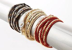 OK 1984: Leather Wrap Bracelets