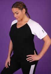 Women's Plus Size Workout Clothing - Baseball Style Shirt