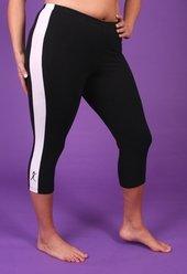 Women's Plus Size Work Out Clothing - Side Stripe Capri Pant