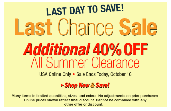 Last Day to Save