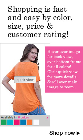 shopping is fast and easy by color, size, price and customer rating!