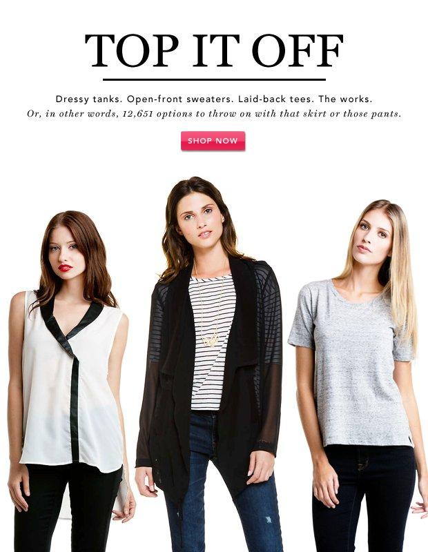 Top It Off: Sleek Blazers, Sweaters, & More