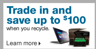 Trade  in and save up to $100 when you recycle. Learn more.