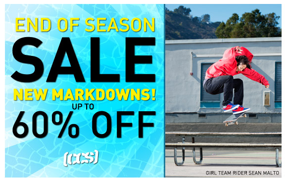 End of Season Sale, Up to 60% Off!