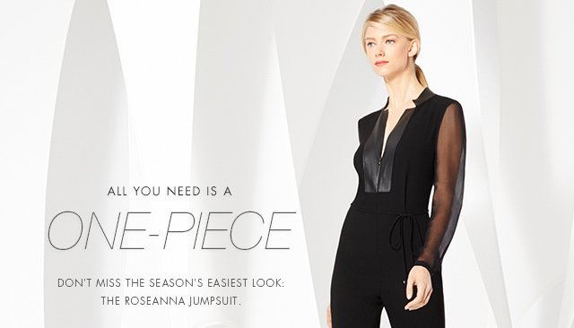 ALL YOU NEED IS A ONE-PIECE | DONT MISS THE SEASON'S EASIEST LOOK THE ROSEANNA JUMPSUIT.