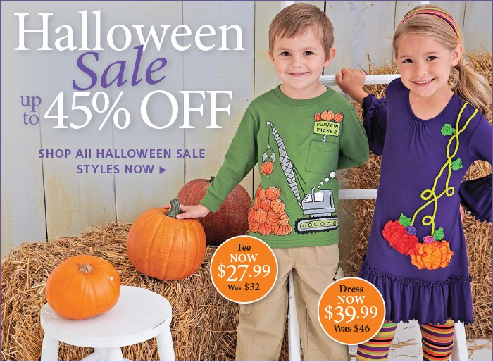 Save up to 45% on Halloween Styles
